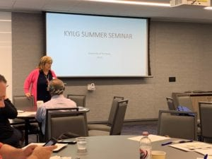 KYILG President Welcoming attendees to the summer seminar